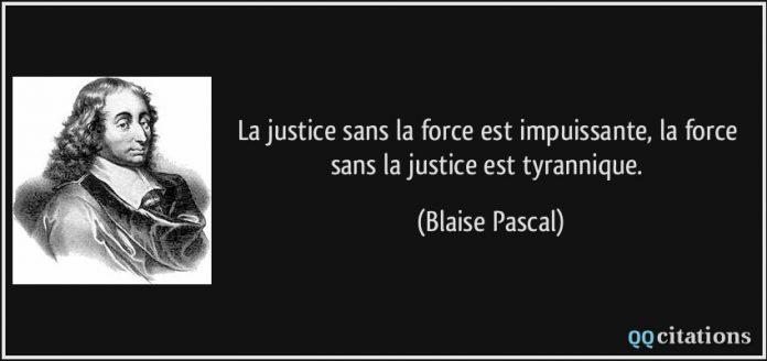 L'influence illusoire du pouvoir en Franc-maçonnerie dans Recherches & Reflexions citation-la-justice-sans-la-force-est-impuissante-696x328